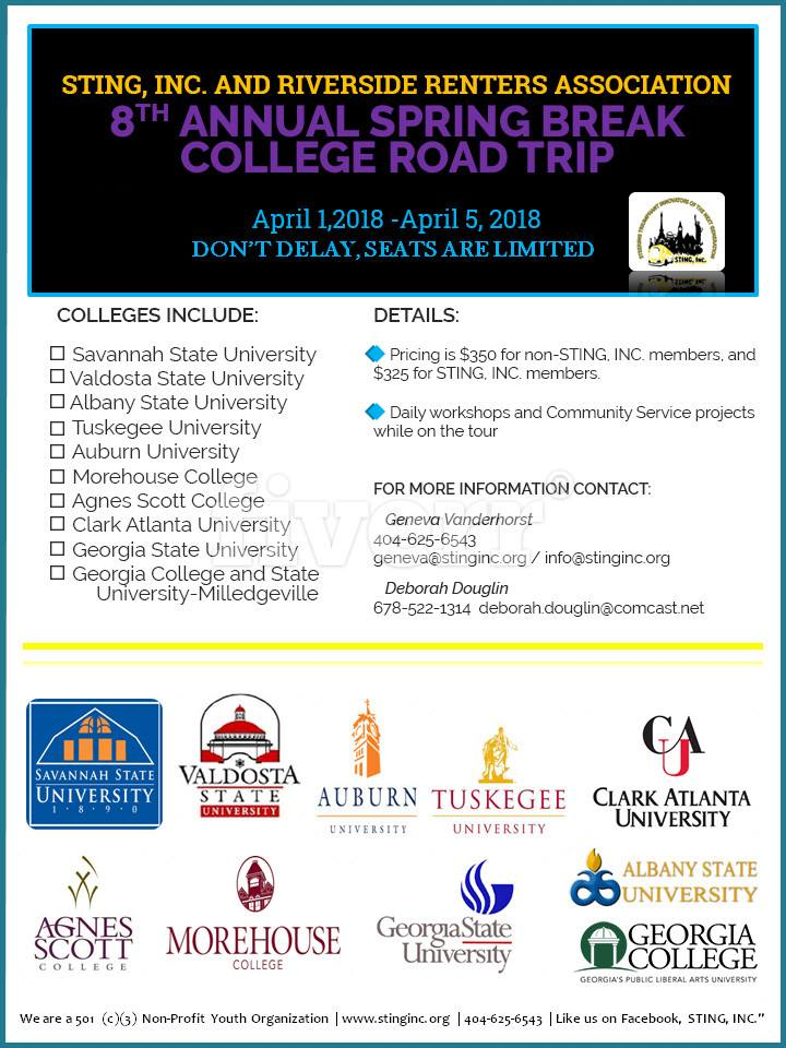 Sting Inc College Road Trip 2018